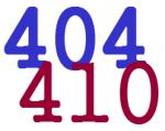 410 404 error
