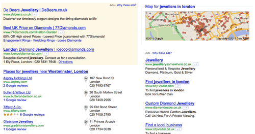 London Jewellers Map