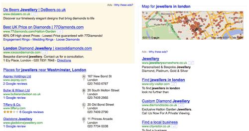 London Jewellers Map