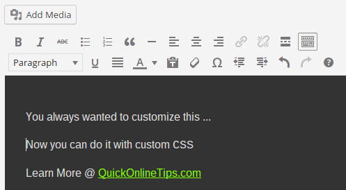 Edit thesis custom css