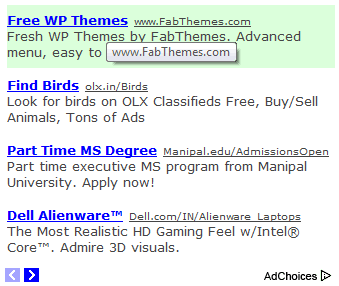 adsense link backgrounds