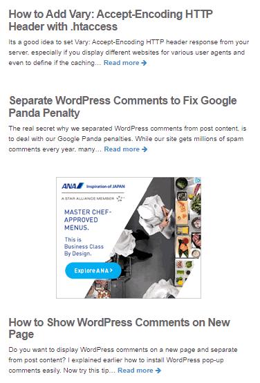 adsense middle ads
