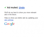 Adsense mute ads