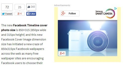 adsense yellow borders