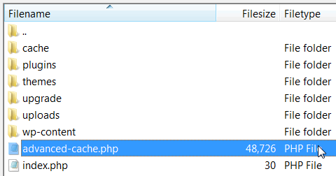 advanced cache file