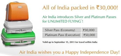 Air India unlimited flying