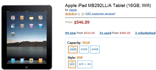 buy ipad on amzaon