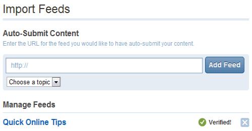 auto submit feeds