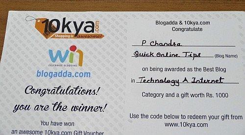award coupon