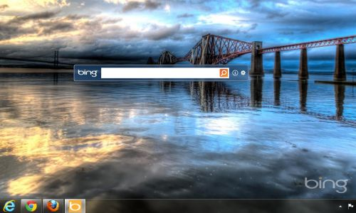 bing desktop bar