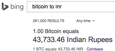 bitcoin to inr rate