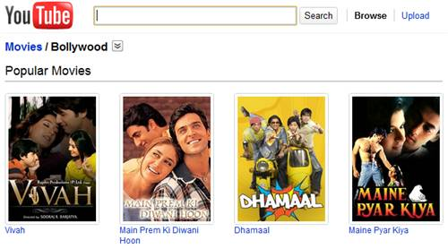 bollywood-hindi-movies on Youtube