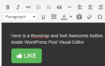 bootstrap in wordpress editor