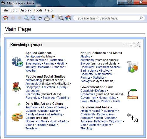browse Wikipedia