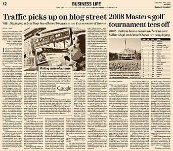 QOT on Business Standard Newspaper