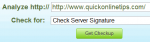 check server signature