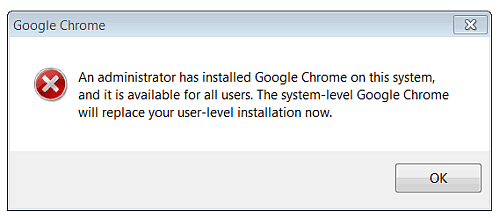 chrome beta alert