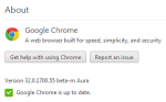 chrome beta version