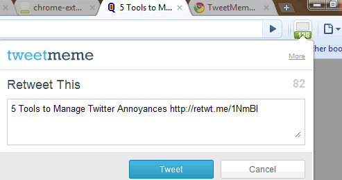 chrome tweetmeme counter