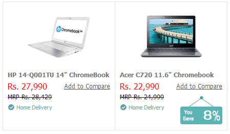 chromebook on croma