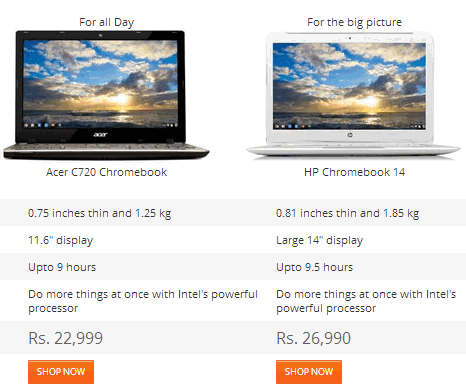 chromebook on flipkart