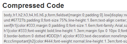 compressed css