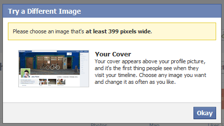Choose Correct Facebook Timeline Cover Photo Size