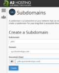 add subdomain