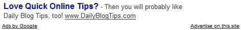Daily Blog Tips Ad