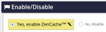 disable zencache