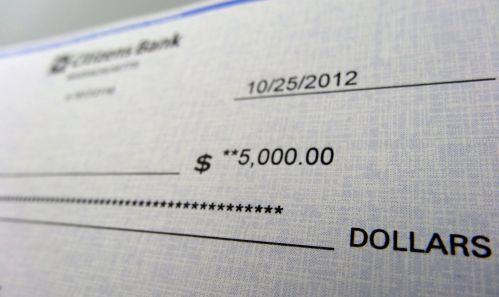 US dollar cheque