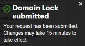 domain lock on
