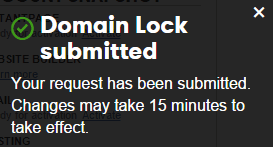 domain lock on