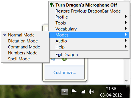 Dragon software options