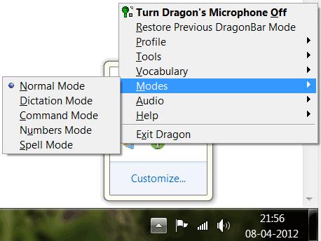 Dragon software options