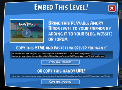 embed angry birds level