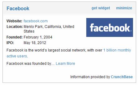 facebook crunchbase