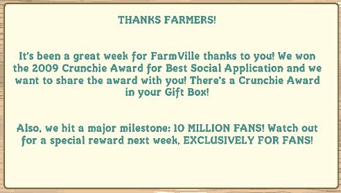 farmville wins crunchie award
