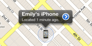 find iPhone on map