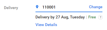 flipkart delivery pincode