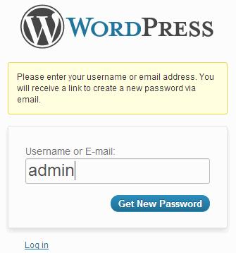 forgot wordpres password