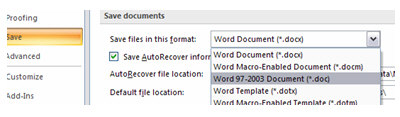 word 2003 format