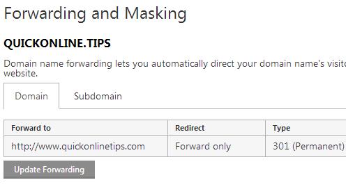 forwarding domain name