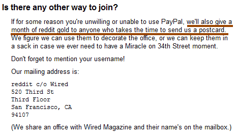 free reddit gold membership