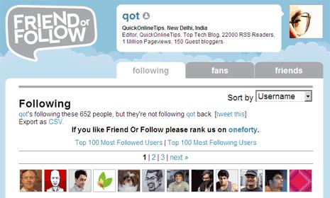 Twitter friend-or-follow