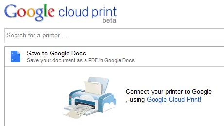 google cloud printer connect