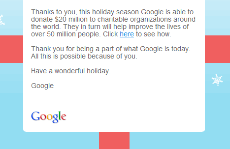 Google happy holidays