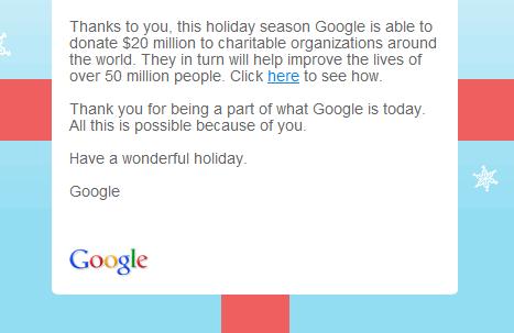 Google happy holidays