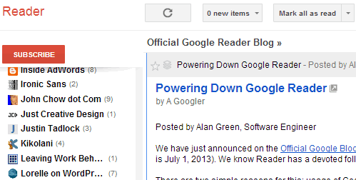 Google Reader Shuts Down, Is Feedburner Next?