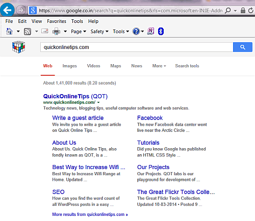 Google results for QOT